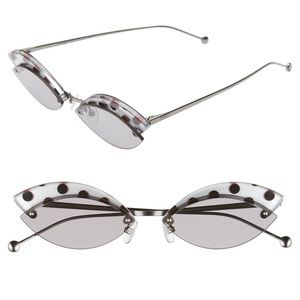 FENDI 53mm Butterfly Sunglasses